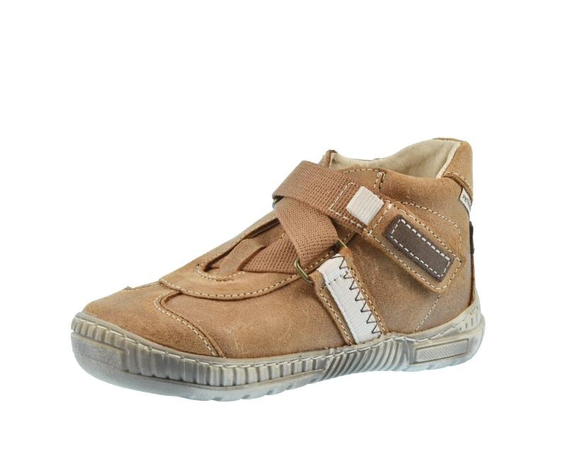 Dětské celoroční boty Pegres 1403 Hnědá  1d382eda77