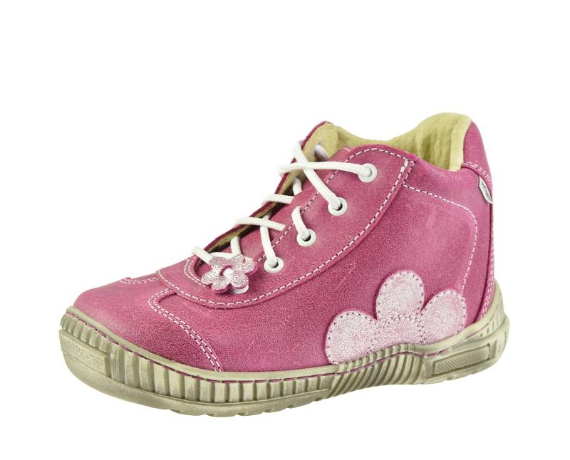 Dětská obuv - Dětské celoroční boty Pegres 1401B Růžová kytka 7ec2acc85f