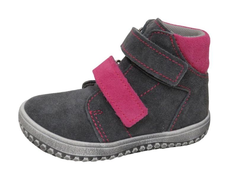 Dětská obuv - Dětské celoroční boty Jonap B2 Šedo Růž cf313a12f0