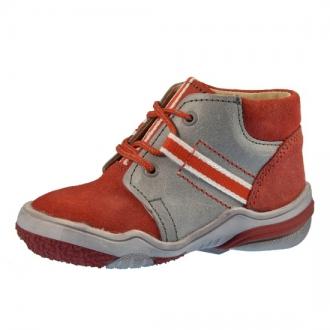 Dětské celoroční BOTY BEDA MB0009/PR3 Red/grey poutko