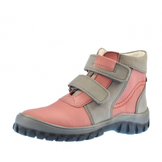 Dětské celoroční boty Boots4U T314V  Růžovo/Šedá