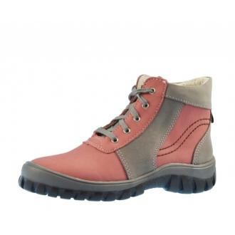 Dětské celoroční boty Boots4U T314 Še/Rů