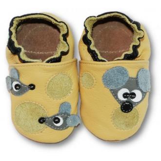 Dětské capáčky Tuptusie Myšky žlutá