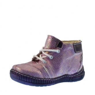 Dětské celoroční boty Pegres 1406A Fialová metal