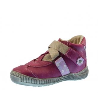 Dětské celoroční boty Pegres 1403A Růžová kytička