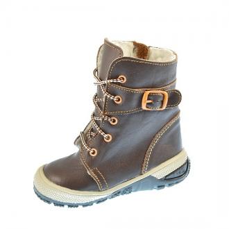 Dětské zimní boty BEDA MB0004 Hně/Or
