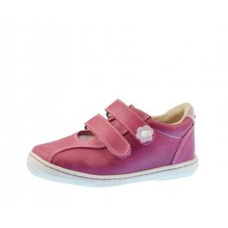 Dětské celoroční boty Pegres 1301 růžová kytky