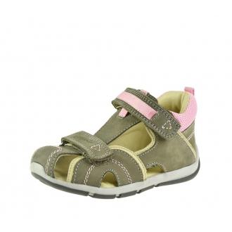 Dětské sandály Santé SK/333 Khaki-Rose