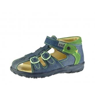 Dětské sandály KTR /142 modrá/zelená