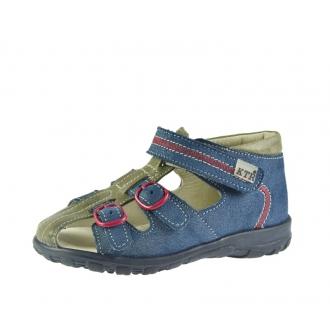 Dětské sandály KTR 141/142 modrá/červená