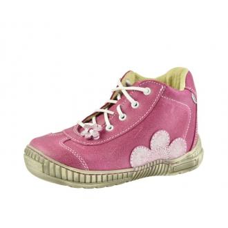 Dětské celoroční boty Pegres 1401B Růžová kytka