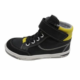 Dětské celoroční boty Jonap 028/MV Černá/Žlutá