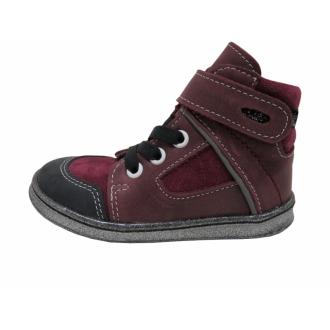 Dětské celoroční boty Jonap 052/M Vínová
