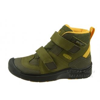 Dětské celoroční boty Keen Hikeport mid strap/Dark olive/citrus