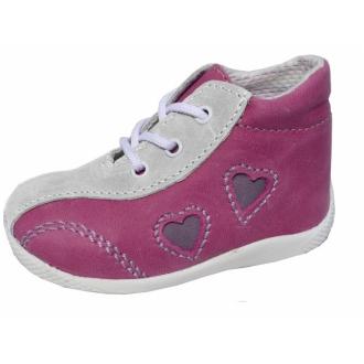 Dětské capáky 10/M Růžové srdce