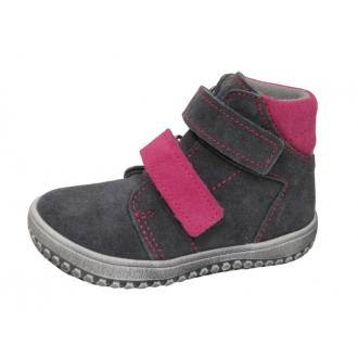 Dětské celoroční boty Jonap B2 Šedo/Růž