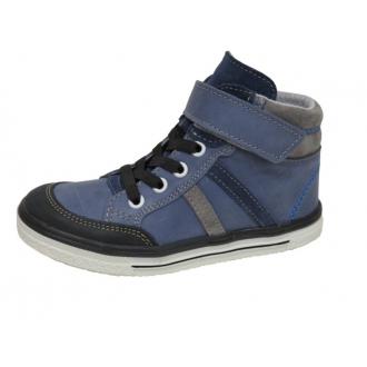 Dětské celoroční boty Jonap 028MV Modrá PRUHY