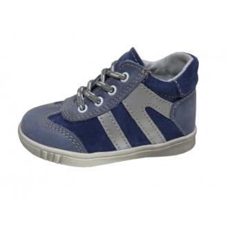 Dětské celoroční boty Jonap 014M Modrá PRUHY