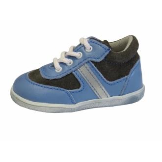 Dětské celoroční boty Jonap 051M 051M Šedo/Modr