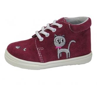 Dětské celoroční boty Jonap 022S Vín Kočka