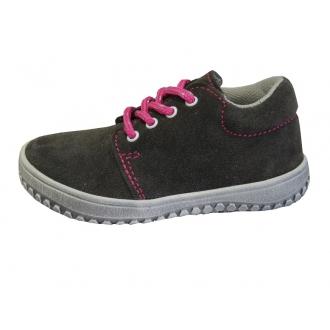 Dětské barefootové boty Jonap B1 Šedá/Růž