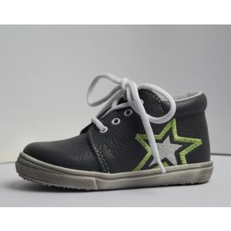 Dětské celoroční boty Jonap 022M Šed Hvězda