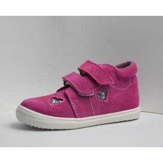 Dětské celoroční boty Jonap 022SV Růžová srdce