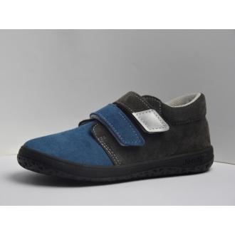 Dětské barefootové boty Jonap B1SV Šedo/Modrá