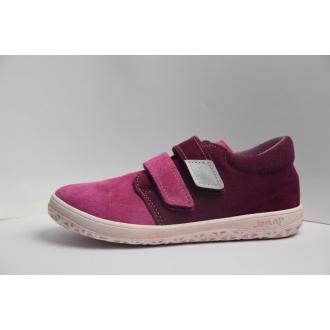 Dětské barefootové boty Jonap B1SV Vín/Růž