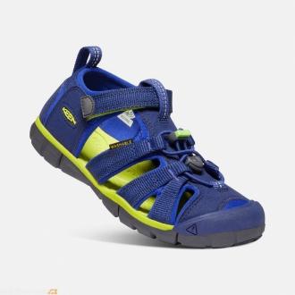 Dětské sandály Keen Seacamp Blue Depths/Chartreuse