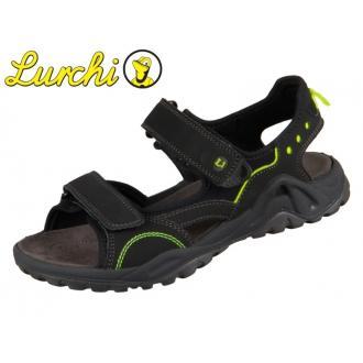 Lurchi MANNI Black 33-18906-41 chlapecké sandále WEIT