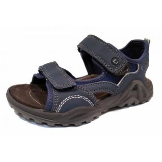 Lurchi MANNI NAVY GREY 33-18906-42 chlapecké sandále WEIT