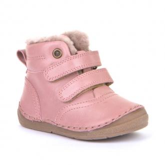 G2110087-9 PINK Kožené dětské zimní boty Froddo