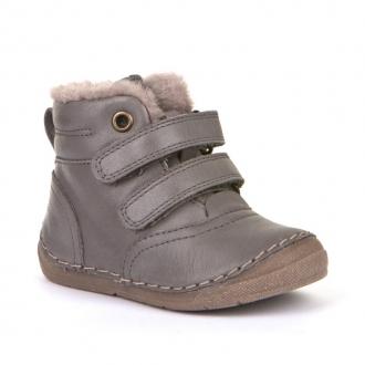 G2110087-2 GREY  Dětská kožená zimní obuv Froddo