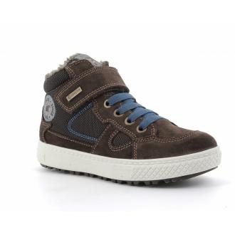 Primigi 6397311 Chlapecká kožená zimní obuv s goretexem