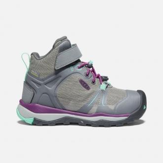 Dětské celoroční membránové boty Keen Steel grey|Beveled glass