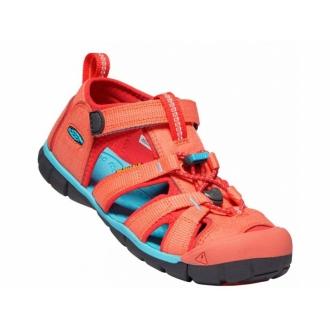 Dětské sandály Keen Seacamp Coral/poppy red