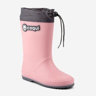 Dětské holiny Coqui 8509 Powder pink/Dk. grey