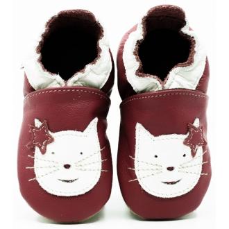 První botičky kožené ekoTuptusie Kočka na vínové