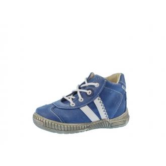 Dětské celoroční boty Pegres 1401B Modrá Bílé pruhy