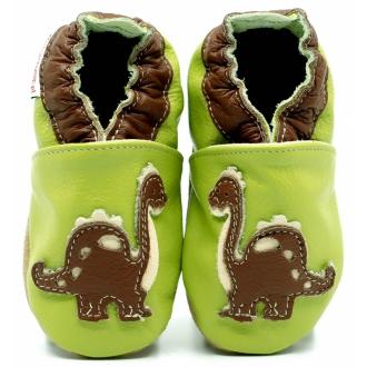 Botičky pro první krůčky ekoTuptusie Brontosaurus na zelené