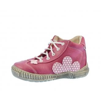 Dětské celoroční boty Pegres 1401B Růžová puntík