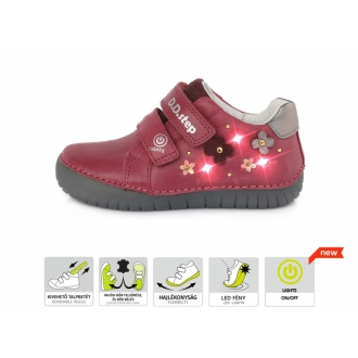 Dětské celoroční kožené boty DDStep S050-632
