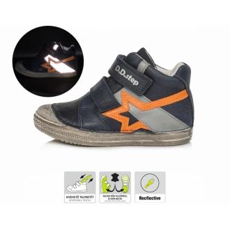 Dětské celoroční kožené boty DDStep A049-87