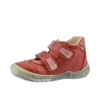 Dětské celoroční boty Pegres 1403 červená cikcak