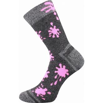 Hawkik Šedá/Sv.Růžová VOXX dětské  teplé ponožky