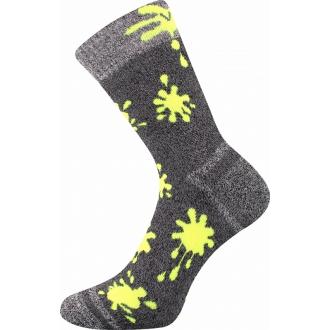 Hawkik Šedá/Neon VOXX dětské funkční ponožky