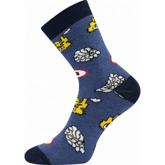 Sibiř Buldozer Modrá  VOXX froté ponožky pro děti