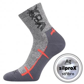 VOXX Walli světle šedá ponožky se zesíleným chodidlem